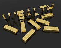 как богатство текста символа богатые люди золота штанг Стоковое Изображение RF