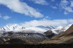 Как бы пейзаж озера в Тибете Стоковое Изображение RF