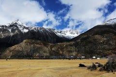 Как бы пейзаж озера в Тибете Стоковое фото RF