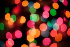 как вал рождества bokeh предпосылки defocused светлый Стоковое Изображение RF