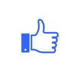 Как вектор стиля значка большого пальца руки плоский Стоковое Фото