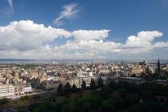 как взгляд edinburgh Шотландии замока Стоковые Изображения