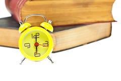 как время управления часов книги Стоковые Фото