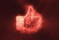 Как знак, как символ Абстрактная предпосылка ночного неба Стоковое Фото