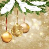 как иллюстрация золота рождества предпосылки Стоковые Фото