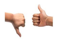 Как и нелюбов рука Стоковая Фотография RF