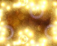 как иллюстрация золота рождества предпосылки Стоковое Изображение
