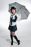как красивейшая одетьнная девушка гангстера Стоковая Фотография RF