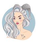 как красивейший зодиак знака девушки козерога Стоковое Изображение