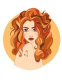 как красивейший зодиак знака leo девушки Стоковое Изображение RF