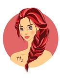 как красивейший зодиак знака scorpio девушки Стоковое Изображение