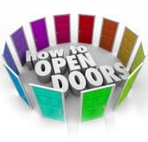 Как к путям доступа входа возможности слов открыть дверей новым иллюстрация вектора