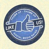 Как мы икона, сети social иконы иллюстрации Стоковая Фотография