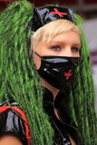 как носить протеста маски девушки фетиша стороны готский Стоковые Фото