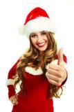 как одетьнная девушка santa Стоковая Фотография RF