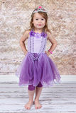 как одетьнный princess девушки маленький стоковое изображение rf