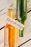 Как остановить выпить Стоковые Изображения RF