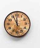 как офис золота стороны принципиальной схемы монетки часов Стоковое Изображение