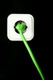 как переключатель зеленого света энергии принципиальной схемы Стоковые Фотографии RF