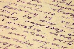 как письмо предпосылки старое Стоковая Фотография