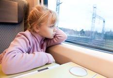 как поезд скорости пассажира девушки высокий маленький стоковая фотография rf