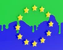 как покрашенное muslimization флага европы eu Стоковое Изображение RF