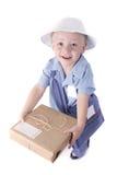 как поставка ребенка одетьнный человек Стоковая Фотография