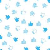 Как предпосылка картины значка безшовная Иллюстрация вектора дела плоская Большой палец руки вверх по картине символа знака бесплатная иллюстрация