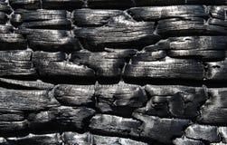 как предпосылка сгоранная древесина Стоковые Изображения
