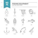 как премудрость людей рыболовства оборудования Стоковое Изображение