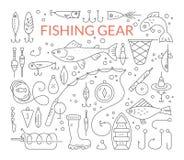 как премудрость людей рыболовства оборудования Стоковые Изображения RF