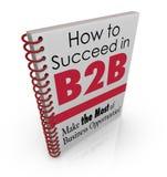 Как преуспеть в книге данным по совета дела B2B Стоковая Фотография RF
