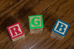Как простой как зеленый R g b красные и голубой Стоковое фото RF