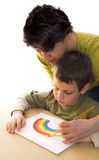 как радуга краски к Стоковая Фотография