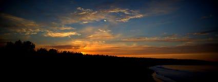 как раз заход солнца Стоковое Изображение RF