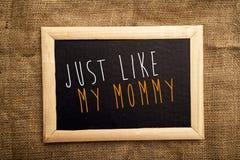 Как раз как моя мама Стоковые Изображения
