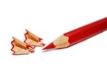 как раз красный цвет карандаша заточил Стоковое фото RF