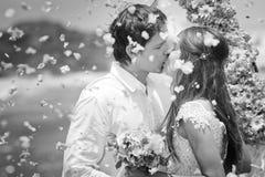 Как раз пожененные пары венчания Стоковые Изображения RF