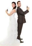 Как раз пожененный внутри поспорьте Стоковое Фото