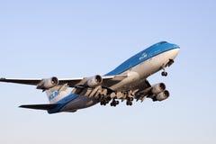 Как раз примите Боинг 747 Стоковые Фотографии RF