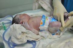 Как раз рожденный младенец стоковые изображения rf