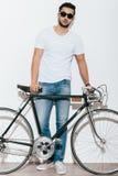 Как раз я и мой велосипед Стоковые Фотографии RF