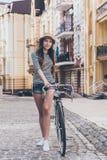 Как раз я и мой велосипед Стоковая Фотография RF