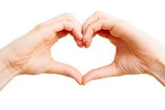 как сердце перста Стоковые Изображения RF