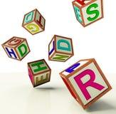 как символ малышей образования блоков понижаясь Стоковая Фотография RF