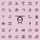 как смогите конструировать используемый логотип логоса иконы вертолета элемента Детальный комплект minimalistic линии значков Наг бесплатная иллюстрация