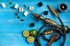 как табак фото предпосылки batural Турецкий куря кальян с вкусом табака зрелой известки Стоковые Изображения