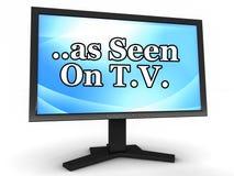 Как увидено на TV Стоковое фото RF