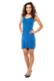 Как я смотрю в этом платье? Стоковые Изображения RF