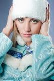 как claus одетьнный русский santa девушки Стоковое фото RF